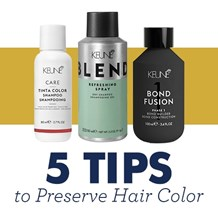 5 Tips to Preserve Hair Color